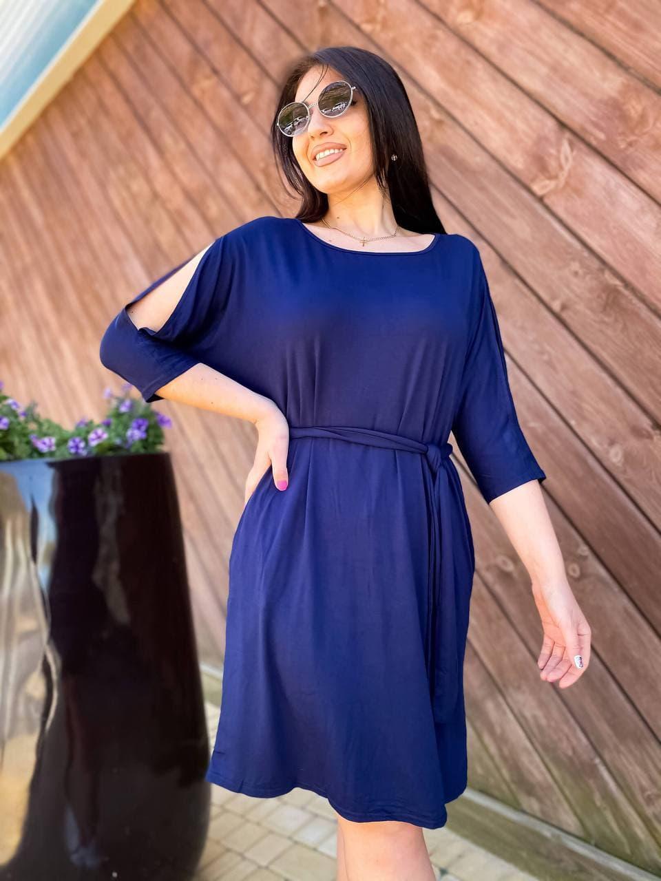Літнє плаття з кишенями тканина віскоза розмір: 46-48,50-52,54-56,58-60