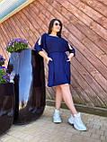 Літнє плаття з кишенями тканина віскоза розмір: 46-48,50-52,54-56,58-60, фото 4