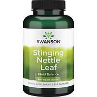 Крапива, Swanson, Stinging Nettle Leaf, 400 мг, 120 капсул