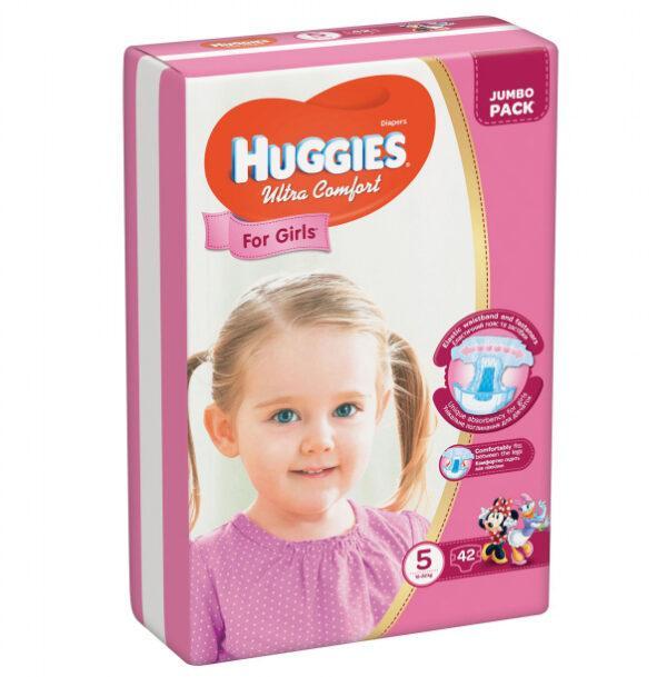 Підгузки для дівчаток Huggies Ultra Comfort 5  (42 шт / 12-22 кг)
