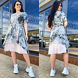 Жіноче літнє плаття сарафан тканина штапель короткий рукав розмір: 50-52,54-56, фото 2