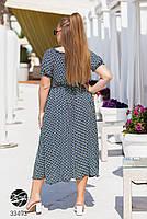 Яркое летнее платье с абстрактным принтом с 48 по 64 размер, фото 4