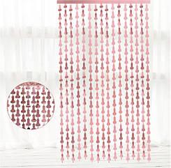 Фотозона на дівич-вечір рожеве золото 2 х 1 метр