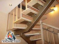 П-подібні металеві сходи на монокосоурі - побудуємо з нуля в вашому домі чи на дачі, фото 1