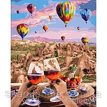 Картина по номерам Волшебная Каппадокия 40х50 см Идейка KHO2837 Воздушные шары