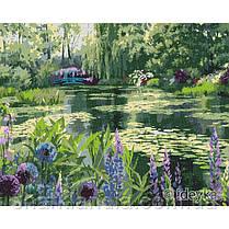 Картина по номерам Сад Моне в Живерни 40х50 см Идейка KHO2838 Репродукция Природа Вода Озеро