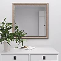 Зеркало настенное квадратное 70х70 в раме цвета слоновой кости Black Mirror в спальню ванную коридор прихожую