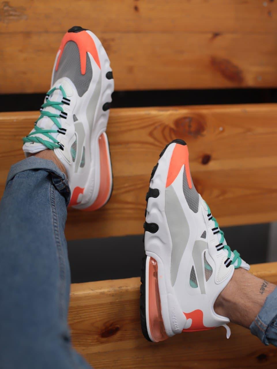 Чоловічі кросівки Nike 270 React White Orange Red Black