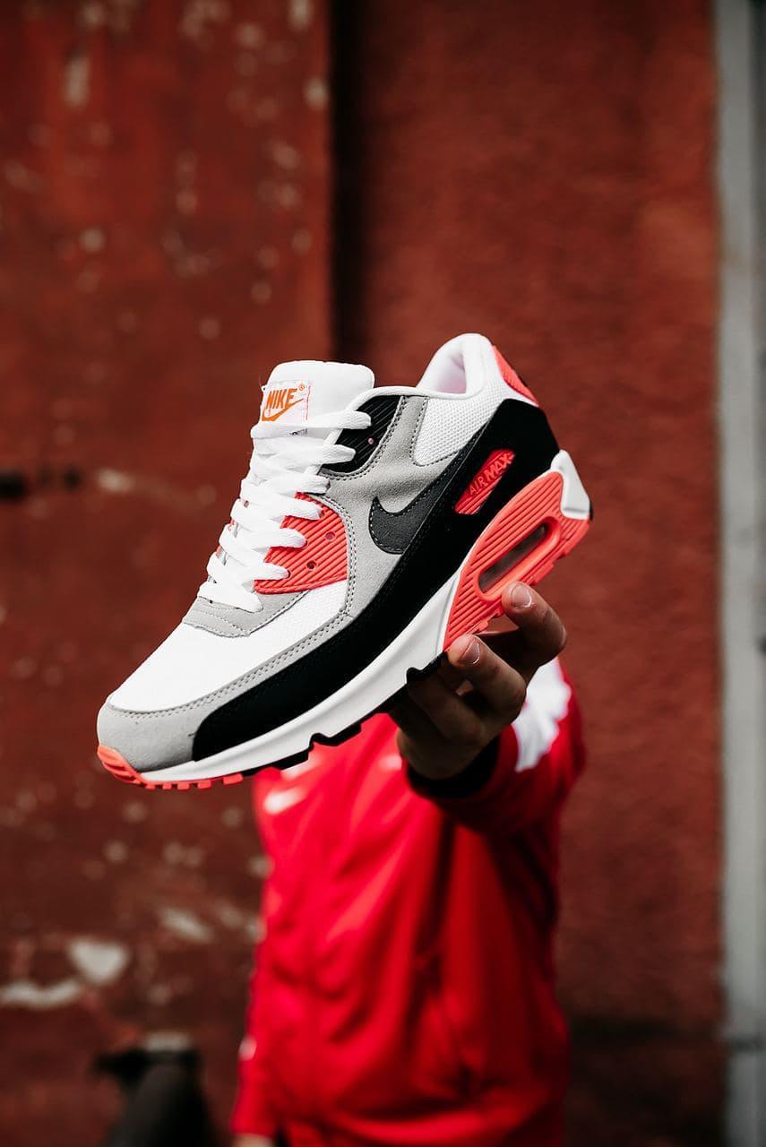 "Мужские кроссовки Nike Air Max 90 ""Black/Grey/Red"""