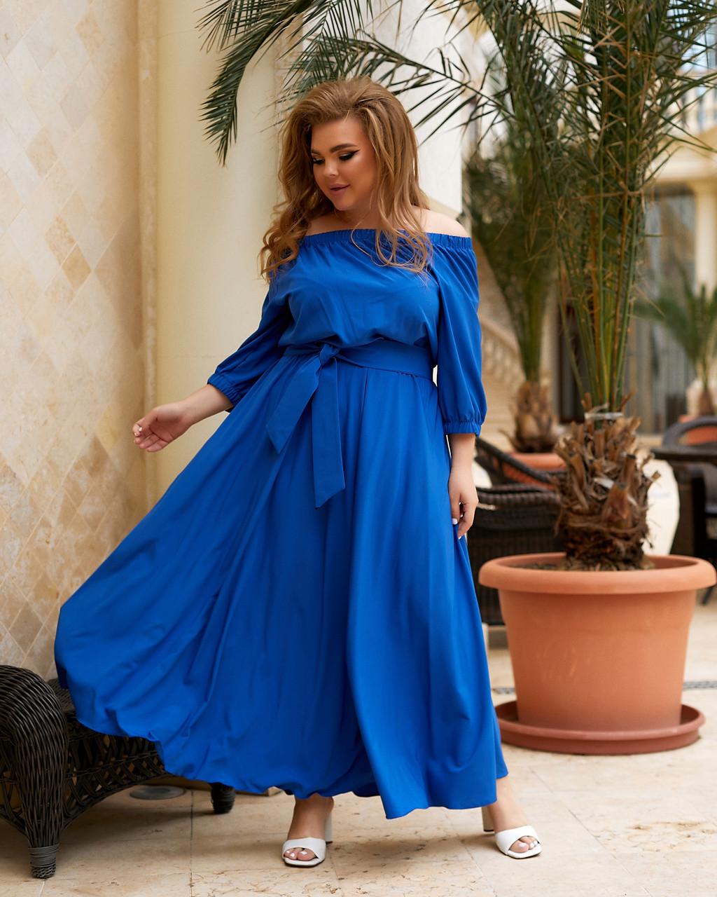 Стильне нарядне плаття максі великого розміру
