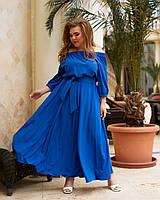 Стильне нарядне плаття максі великого розміру, фото 1