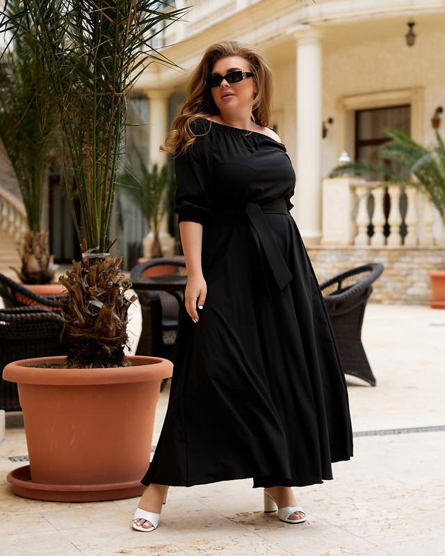 Стильное нарядное платье макси большого размера