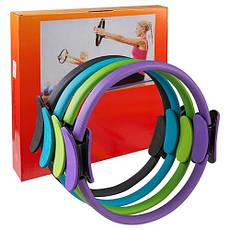 Эспандер кольцо для пилатеса (кольцо для йоги, фитнеса) D=40 cm 84071, Черный, фото 3