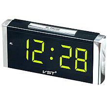 Настільні годинники від мережі+батарейка VST-731 Y (60 шт/ящ)