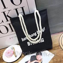 Художественная холщовая сумка Студенческая сумка на одно плечо Модная женская сумка Холщовая сумка с буквами