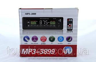 Автомагнітола MP3 3899 ISO, 1DIN сенсорний дисплей