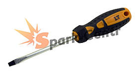 Отвертка шлицевая SL5 x 100 мм LT усиленный шестигранный стержень