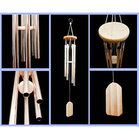 Поющие ветра 6 трубочек музыка ветра серебряного цвета