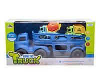 Автовоз с инерционными машинками (голубой)
