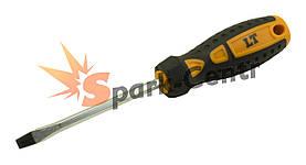 Отвертка шлицевая SL6 x 100 мм LT усиленный шестигранный стержень
