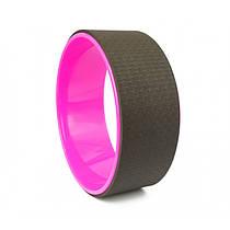 Колесо-кільце для йоги та фітнесу чорного кольору 33 см