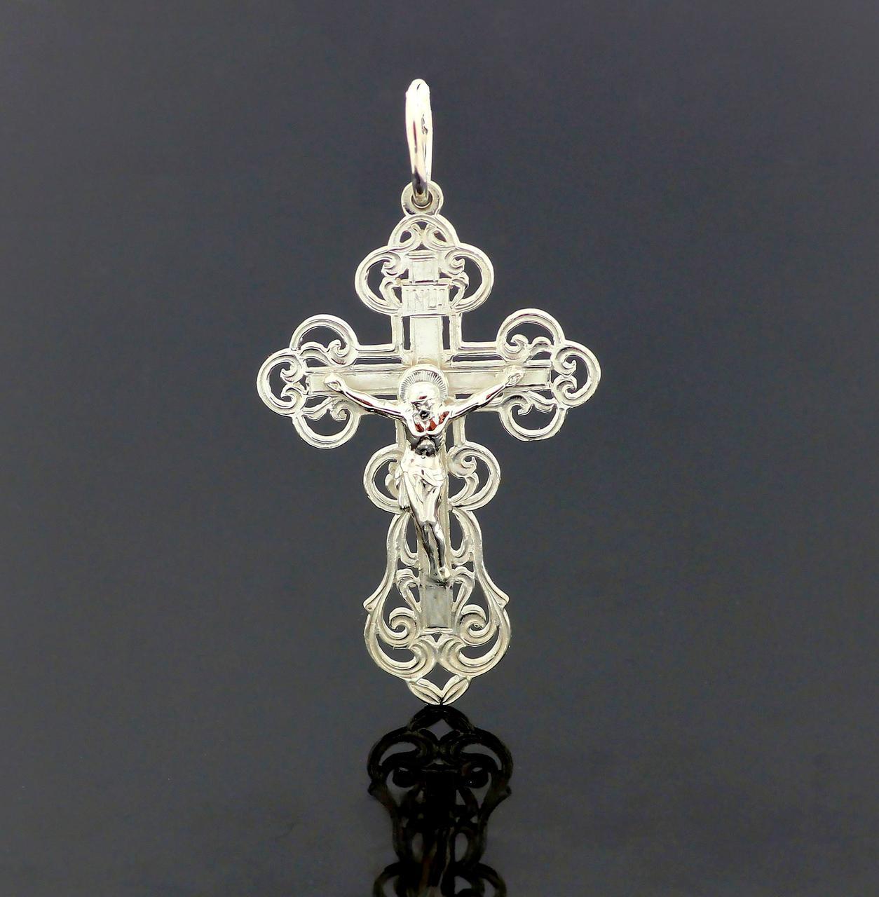 Срібний православний хрестик з розп'яттям. Вага 18,75 гр. 925 проба