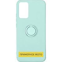 Чохол TPU Candy Ring для Oppo A53 Бірюзовий / Ice Blue
