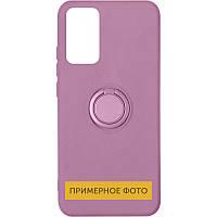 Чохол TPU Candy Ring для Oppo A53 Ліловий / White Pride