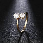 """Женское кольцо """"Поцелуйчики"""" из нержавеющей стали и цирконом Stainless Steel"""