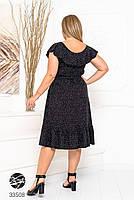 Елегантне жіноче плаття на запах з оздобленням оборками з 48 до 54 розмір, фото 8