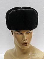 Норковая мужская меховая шапка, цельная.
