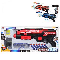Пистолет стреляет присосками и орбизами, 2 в 1, Пистолет с присосками