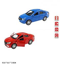 Машинка Лада Гранта коллекционная модель Lada Granta металлическая, 1:32-1:36, (красный, синий), Автопром