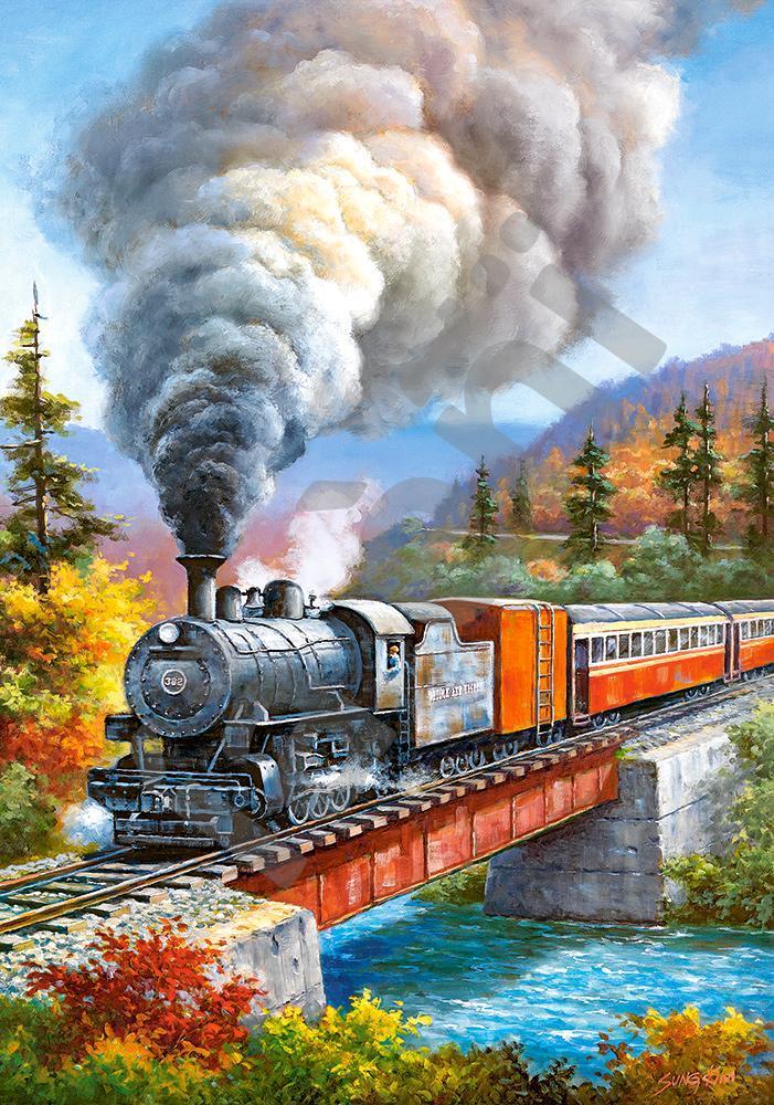 """Пазли 500 їв. Castorland """"Train Crossing"""" 53216"""