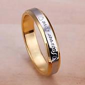 Кольцо с гравировкой из нержавеющей стали Stainless Steel, ширина 3 мм