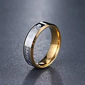 Кольцо с гравировкой из нержавеющей стали Stainless Steel, ширина 6 мм