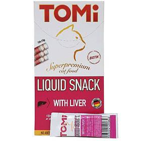 Жидкое лакомство с печенью и биотином TOMi Liquid Snack Liver&Biotin для кошек 10 г*10 шт.