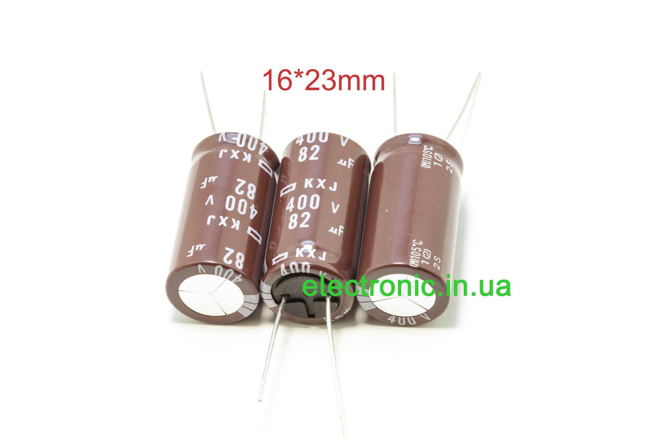 NCC KXJ series 82 400 мкФ У 16*23 мм