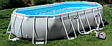 Басейн Intex 26796 503х274х122 каркасний | Овальний басейн Интекс фільтр-насос сходи тент підстилка, фото 2