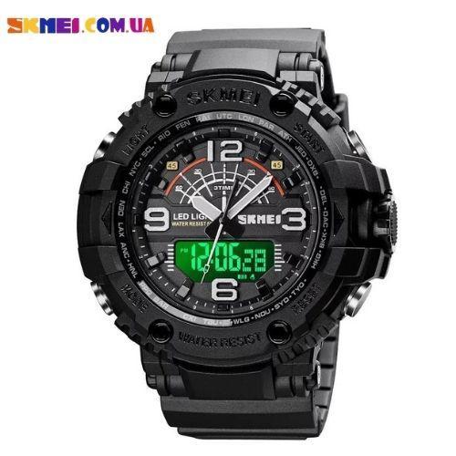 Тактичні наручний годинник Skmei 1617 (Black)