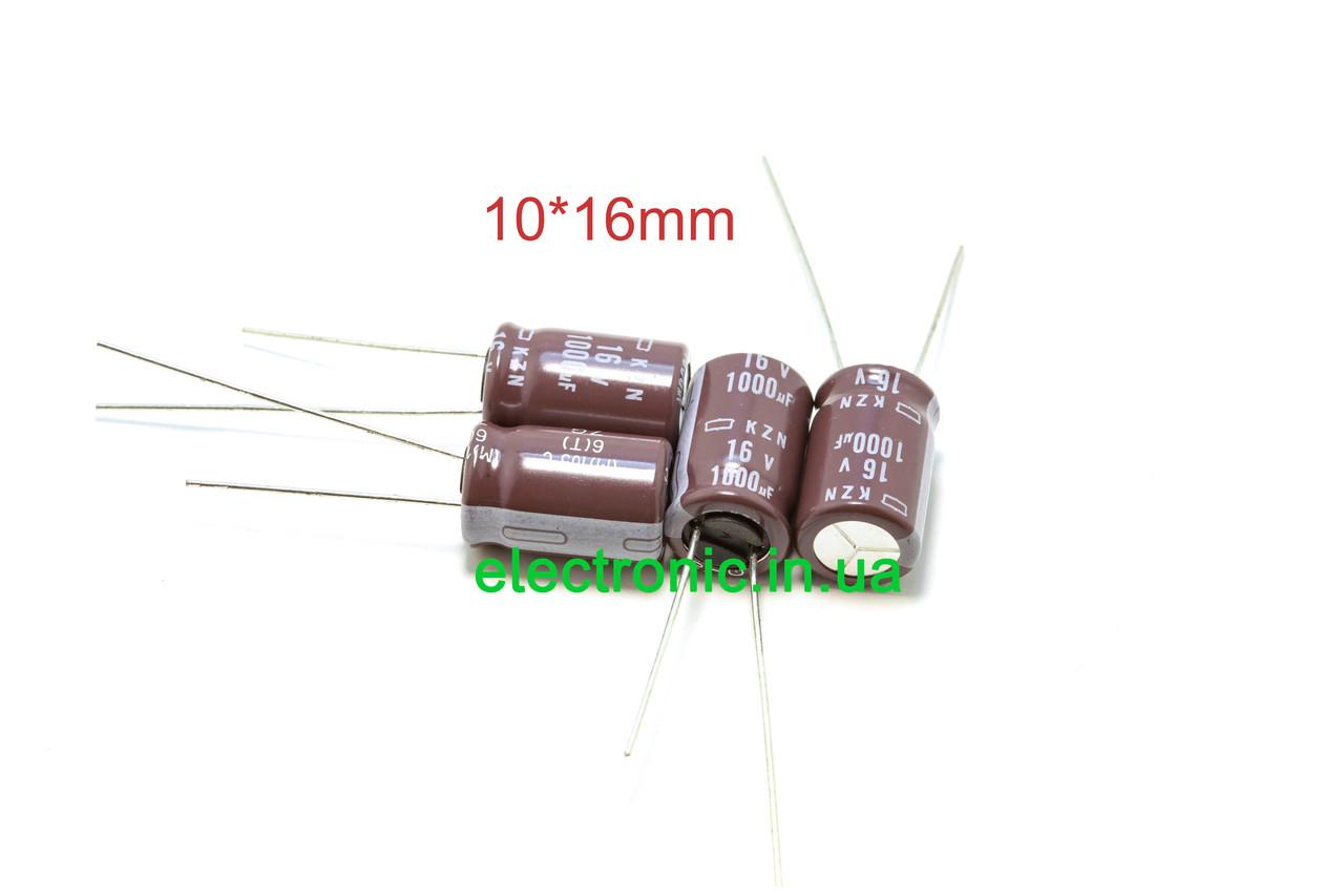 NCC KZN series 1000 мкФ 16 10*16 мм