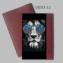 Обложка на паспорт для вышивки. Бордовый