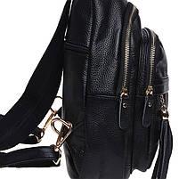 Жіночий шкіряний рюкзак Keizer K11032-black, фото 4
