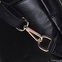 Жіночий шкіряний рюкзак Keizer K11032-black, фото 6
