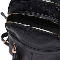 Жіночий шкіряний рюкзак Keizer K11032-black, фото 8