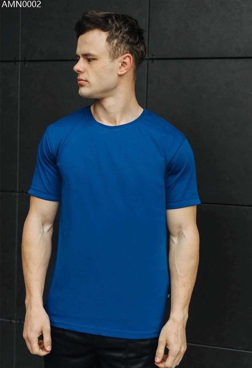 Футболка мужская Staff blue basic синий AMN0002 XS, 44