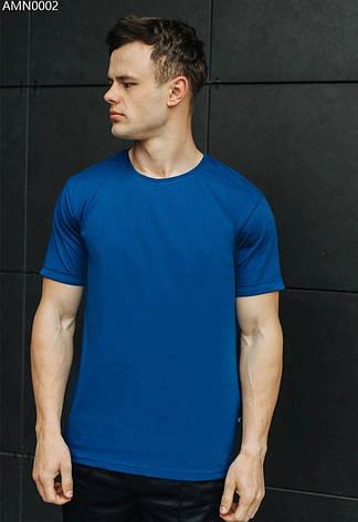 Футболка мужская Staff blue basic синий AMN0002 XS, 44, фото 2