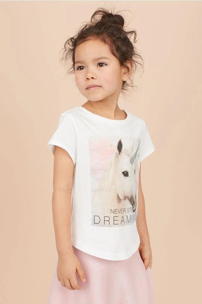 Трикотажная футболка Единорог НМ для девочки