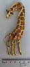 Брошь брошка шикарный огромный 12см жираф кулон подвеска 2 в 1 металл эмаль, фото 3