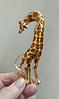 Брошь брошка шикарный огромный 12см жираф кулон подвеска 2 в 1 металл эмаль, фото 6